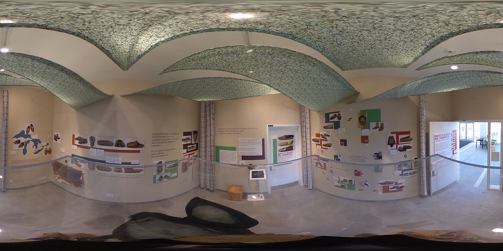 360 view of Moccasins Re-vamped exhibit