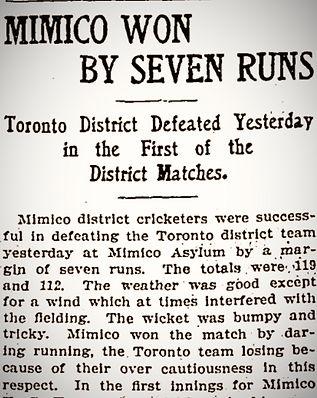 1905 Mimico Won