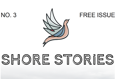 Title section of the third issue of Shore Stories showing logo of the Lakeshore Grounds Interpretive Centre