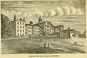 Lithograph of the Kington Asylum