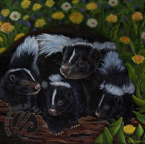 Skunk Family, Lisa Compton