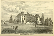 Lithograph of the Orillia Asylum