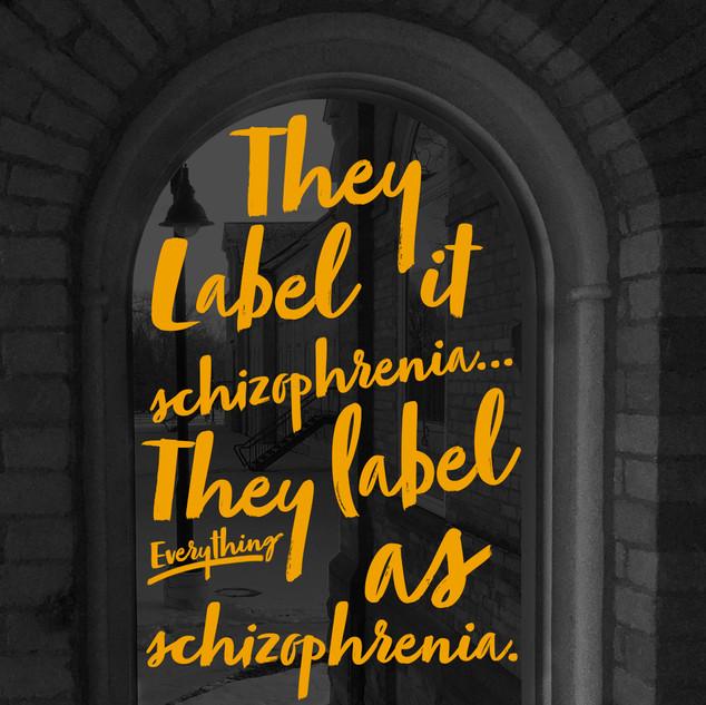 They label it schizophrenia.... They label everything as schizophrenia.