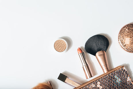 flat lay beautiful modern minimal makeup