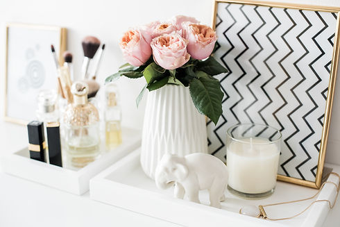 Ladys dressing table decoration with flo
