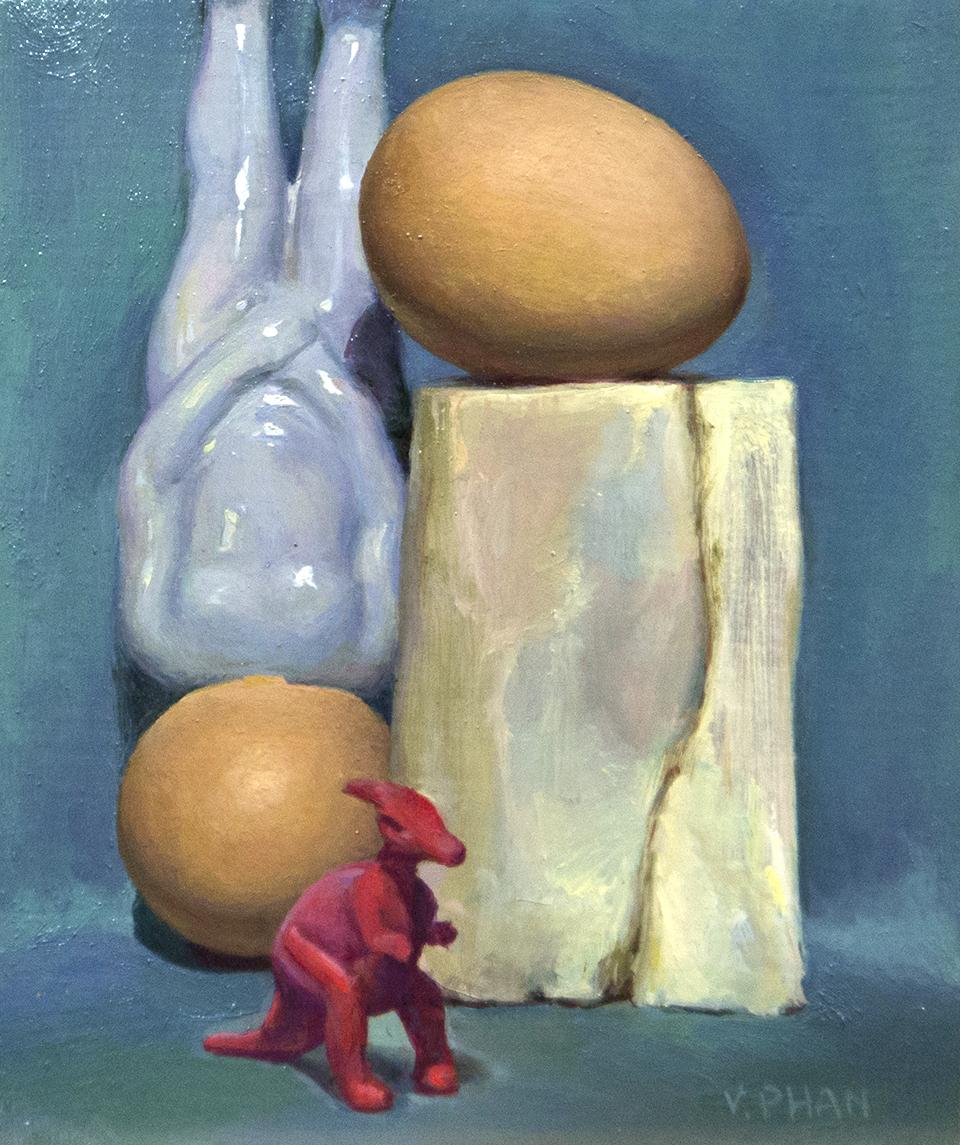"""Sore Eggs, 6x5"""", $600"""
