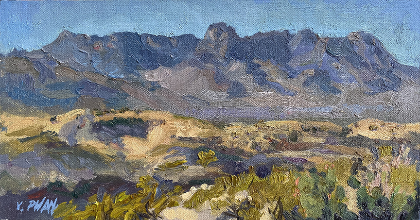 Big Bend Chisos Mountains, 6x12""
