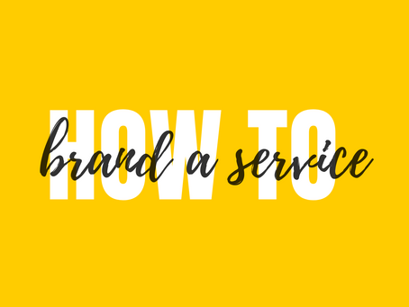 How to Brand a Service