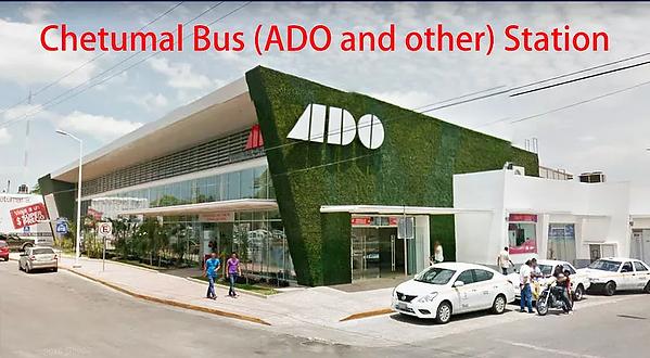 ADO station from Chetumal to Bacalar Sunrise Villa