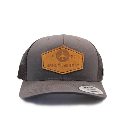 Red Arrow Trucker Hat - Grey