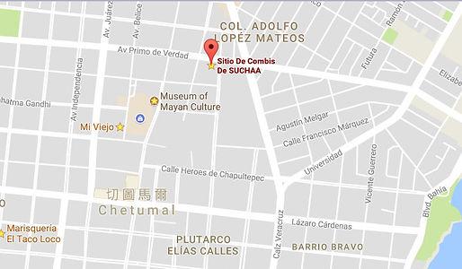 Sitio de combies Chetumal a Bacalar