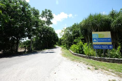 Camino de entrada a Dzibanché