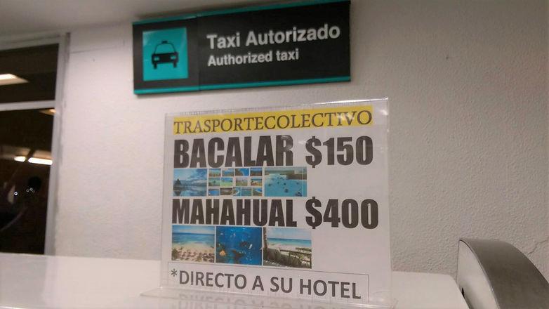 Taxi de aeropuerto de Chetumal a Bacalar Sunrise Villa