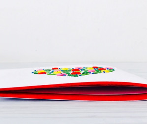 Colorful Hearts Greeting Cards
