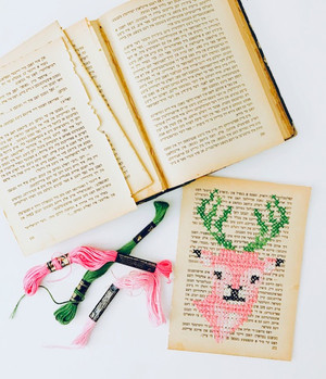 Colorful Deers Embroidery