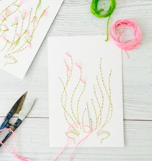 Golden Deer Embroidery