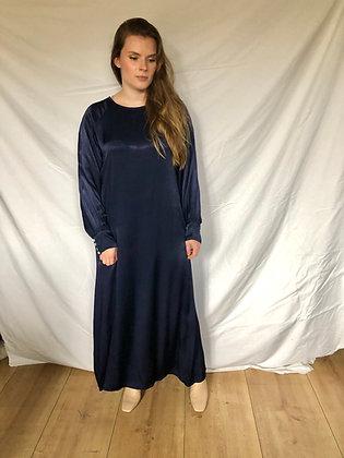 Liv Satin Dress Dark Blue