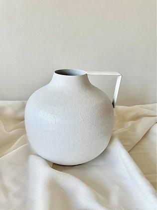 Vaas met handvat wit