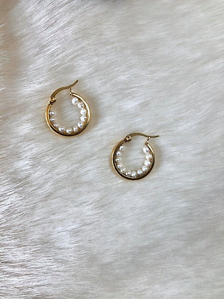 Not so Classic Pearl Hoops
