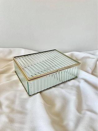 Glazen box Ribbel L