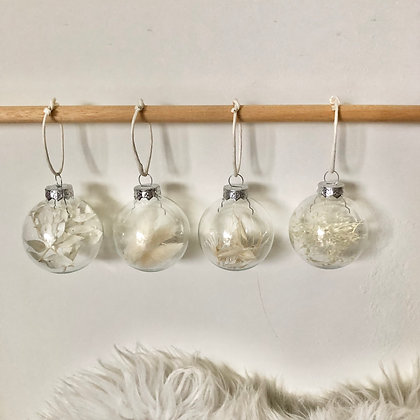 Kerstballen WHITE