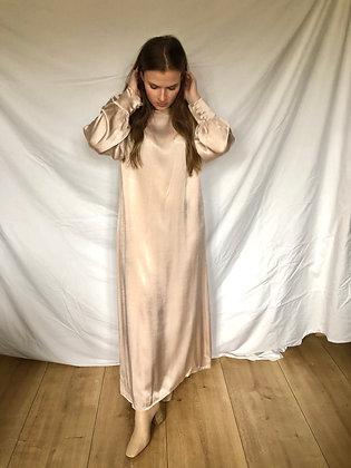 Liv Satin Dress Soft Pink