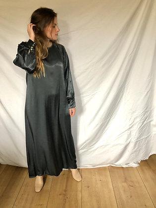 Liv Satin Dress Grey