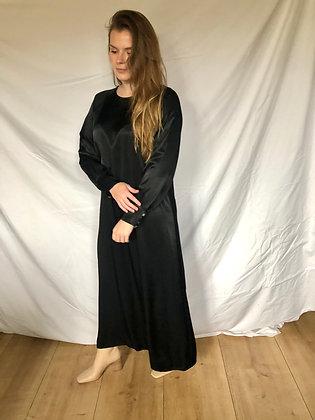 Liv Satin Dress Black
