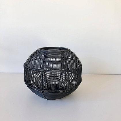 Theelicht zwart metaal