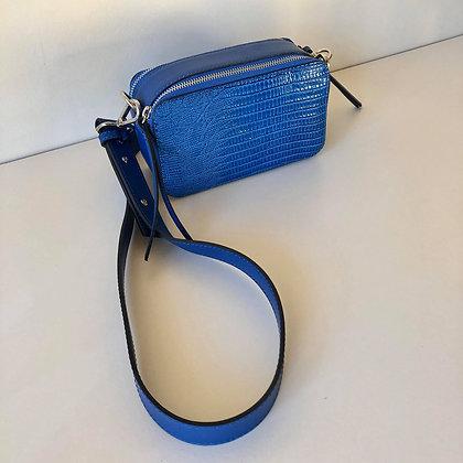 Bag Croco Look Cobalt