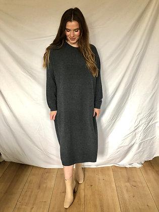 May Wool Dress Dark Grey