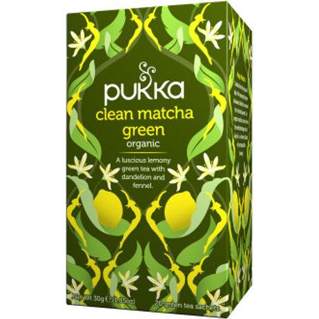 Pukka Ekologiskt Grönt Te Clean Matcha Green, 20st