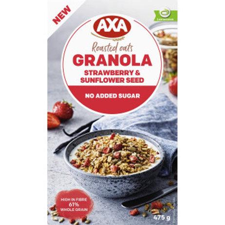 Kopie von AXA, Granola Jordgubb &Svart Vinbär, 475gr