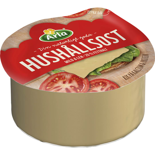 Arla Hushållsost mild 26% - Mild Creamy Cheese 1,0 kg