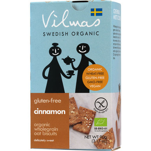 Vilmas Cinnamon Oat Biscuits Gluten Free, 90gr