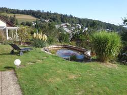 Teich im unteren Gartenbereich