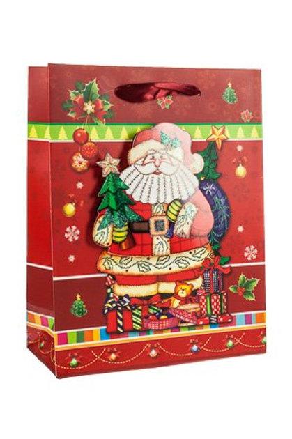 "3D Geschenktasche ""Santa Claus'"" 18 x 8,5 x 23 cm"
