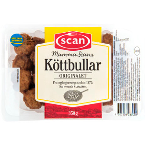 Mamma Scans Köttbullar, Scan, 350gr