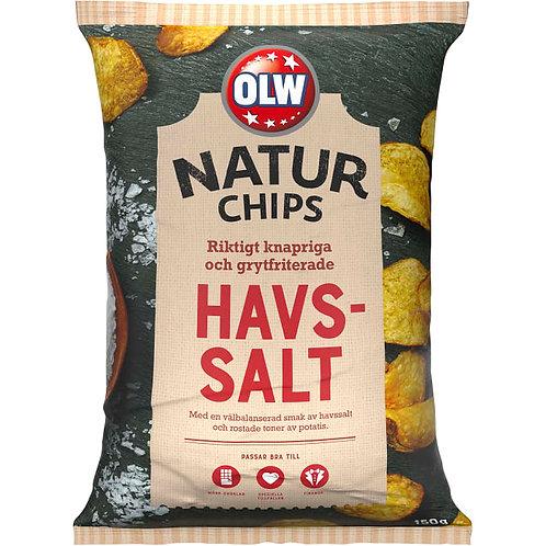 """OLW Naturchips """"Havsalt"""", 150gr"""