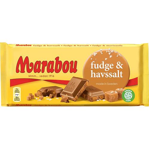 Marabou Choklad fudge & havssalt ,  185g