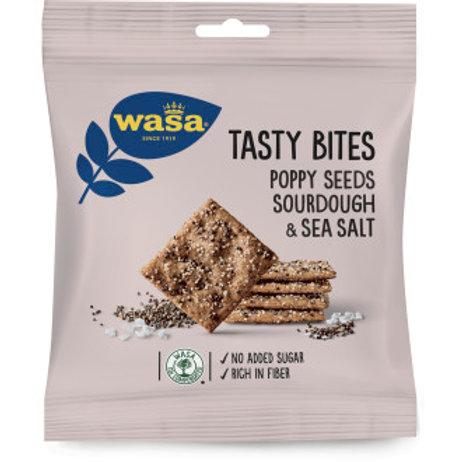Wasa, Tasty Bites Vallmofrö Surdeg &Havssalt, 50gr