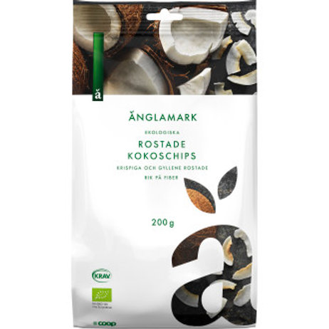 Änglamark Kokoschips, 200gr
