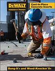 DeWalt Cast In Place Concrete Inserts -