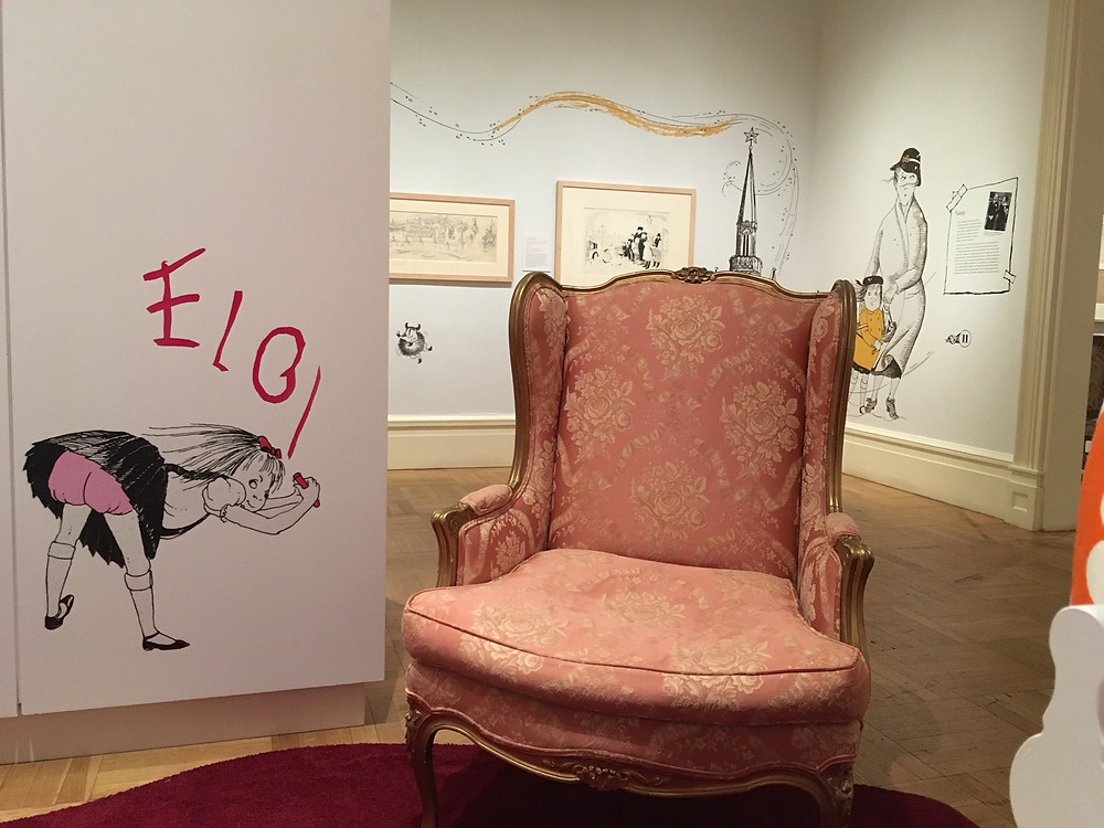 You can sit here and enjoy books illustrated by Hilary Knight.