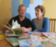 Barbara Lalicki and Steve Henry review picture books for their class.
