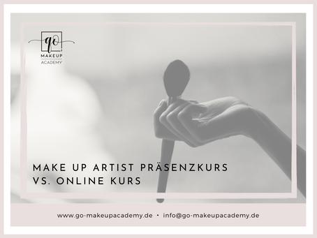 Make Up Artist Präsenzkurs vs. Make Up Artist Online Kurs