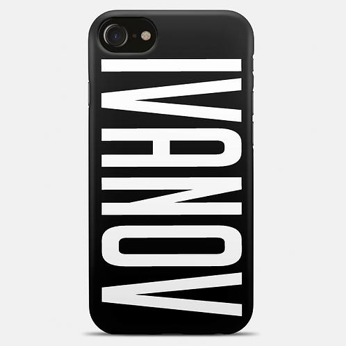 Чехол 2D c печатью для iPhone 7 Черный