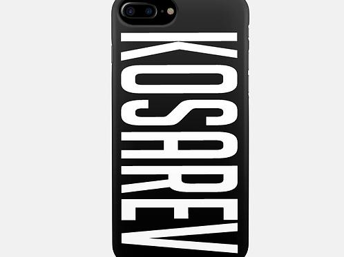 Чехол 2D c печатью для iPhone 7 Plus Черный