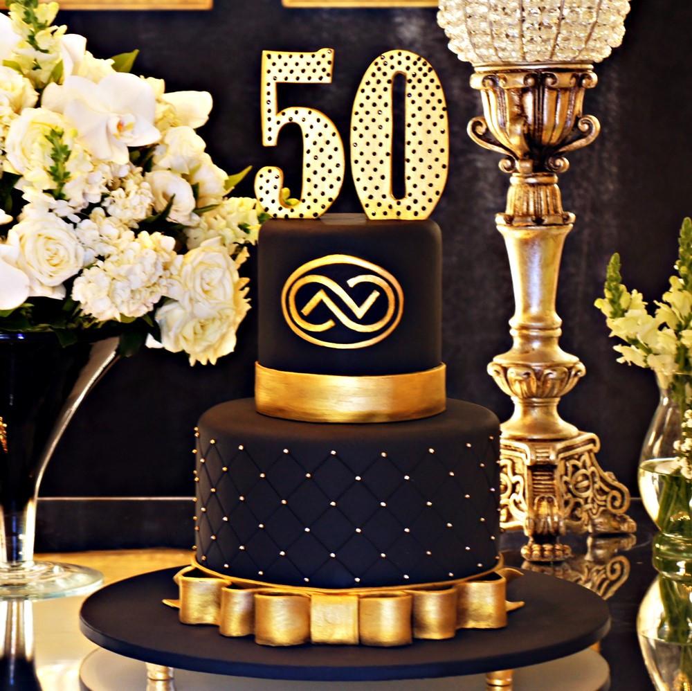 Открытка торт 50 лет