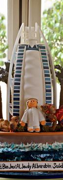Bolo Burj Al Arab cake Burj cake de Simone Amaral